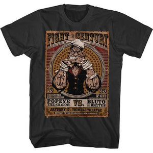 MEN'S POPEYE FIGHT OF THE CENTURY LIGHTWEIGHT TEE - Blue Culture Tees