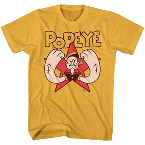 MEN'S POPEYE ARMS TEE - Blue Culture Tees