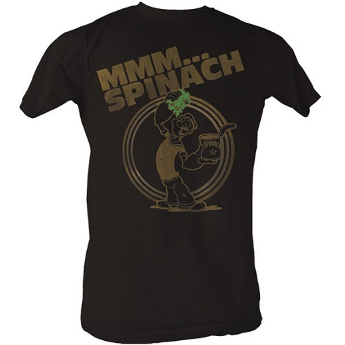 MEN'S POPEYE MMM... SPINACH LIGHTWEIGHT TEE - Blue Culture Tees