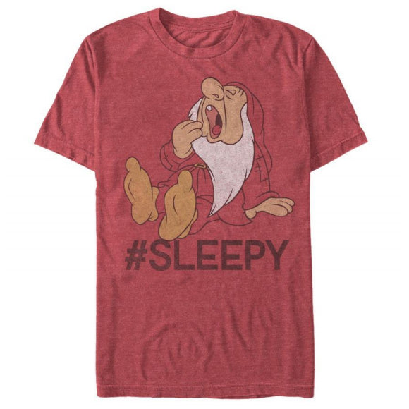 Men's Disney Snow White and Seven Dwarfs Hashtag Sleepy Tee