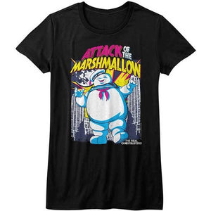 WOMEN'S THE REAL GHOSTBUSTERS MARSHMALOW ATTACKS TEE