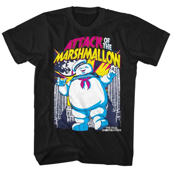 MEN'S THE REAL GHOSTBUSTERS MARSHMALLOW ATTACKS TEE