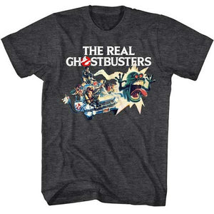 Men's The Real Ghostbusters Car Chase Tee