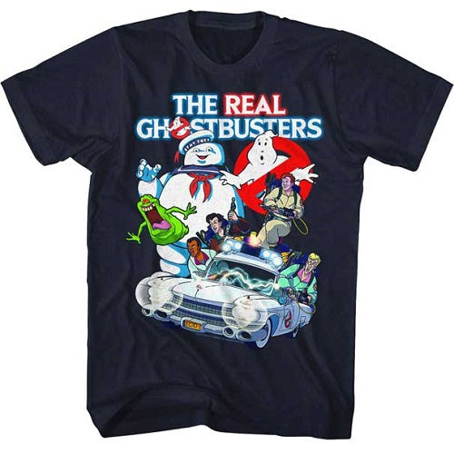 Men's The Real Ghostbusters GB Collage Tee