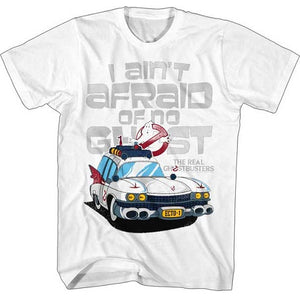 MEN'S THE REAL GHOSTBUSTERS AINTAFRAID TEE