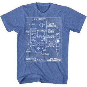 MEN'S THE REAL GHOSTBUSTERS BLUEPRINTS TEE