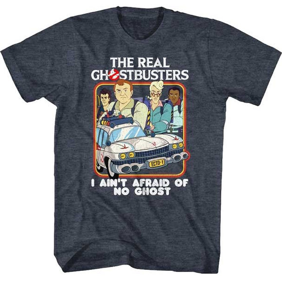 MEN'S THE REAL GHOSTBUSTERS BUSTERS & ECTO1 TEE