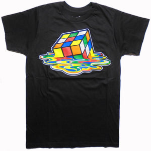 MEN'S SHELDON COOPER MELTED RUBIK'S CUBE TEE - Blue Culture Tees