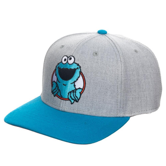 Sesame Street Cookie Monster Pre-Curved Snapback Hat