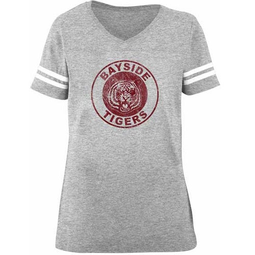 WOMEN'S SAVED BY THE BELL BAYSIDE TIGERS FOOTBALL TEE