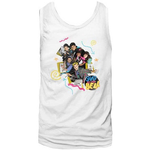 MEN'S SAVED BY THE BELL PASTEL TANK - Blue Culture Tees