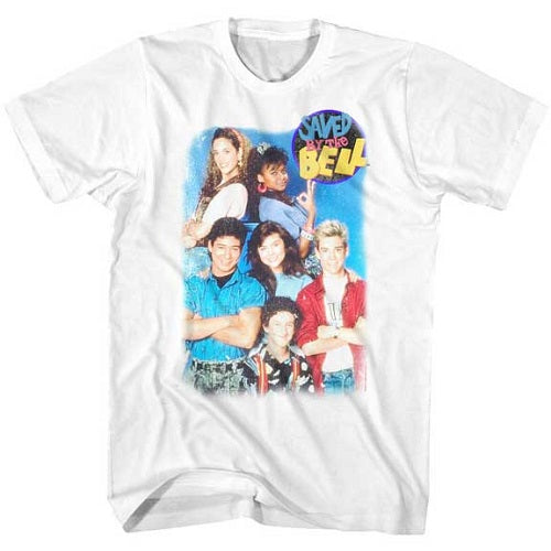 MEN'S SAVED BY THE BELL GROUP SHOT LIGHTWEIGHT TEE