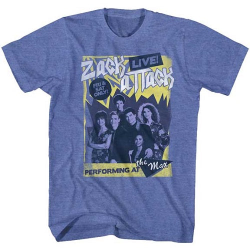 MEN'S SAVED BY THE BELL ZACK ATTACK LIVE LIGHTWEIGHT TEE