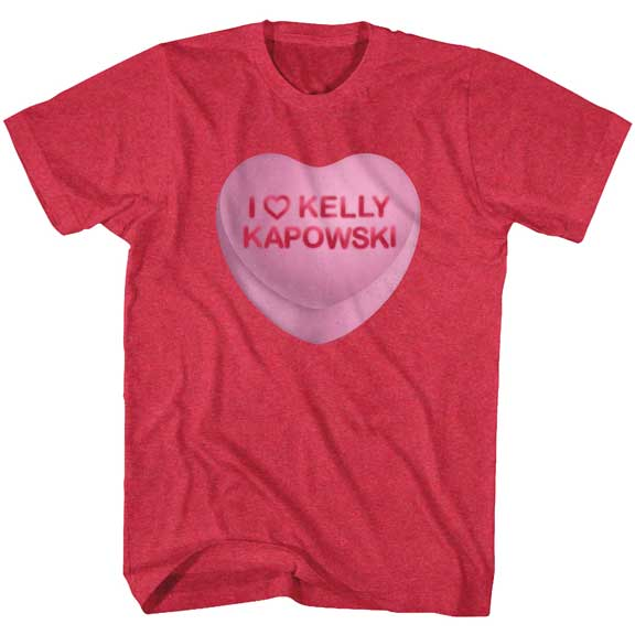 MEN'S SAVED BY THE BELL KELLY CANDY HEART TEE