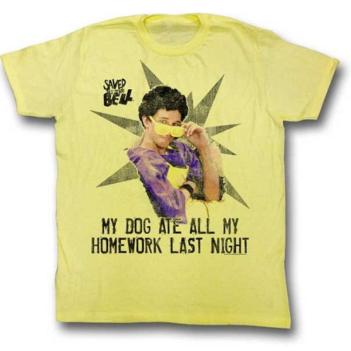 MEN'S SAVED BY THE BELL MY HOMEWORK LIGHTWEIGHT TEE