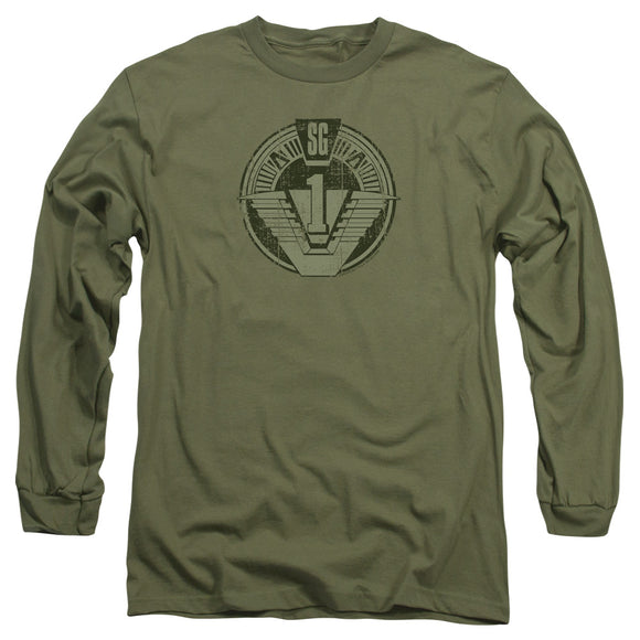 Men's Stargate SG-1 Distressed Long Sleeve Tee