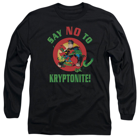 Men's DC Comics Superman Say No to Kryptonite Long Sleeve Tee