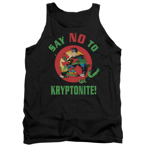 Men's DC Comics Superman Say No to Kryptonite Tank Top
