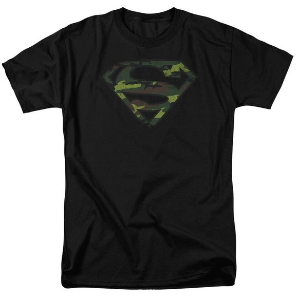 Men's DC Comics Superman Distressed Camo Shield Tee