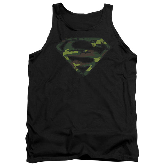 Men's DC Comics Superman Distressed Camo Shield Tank Top