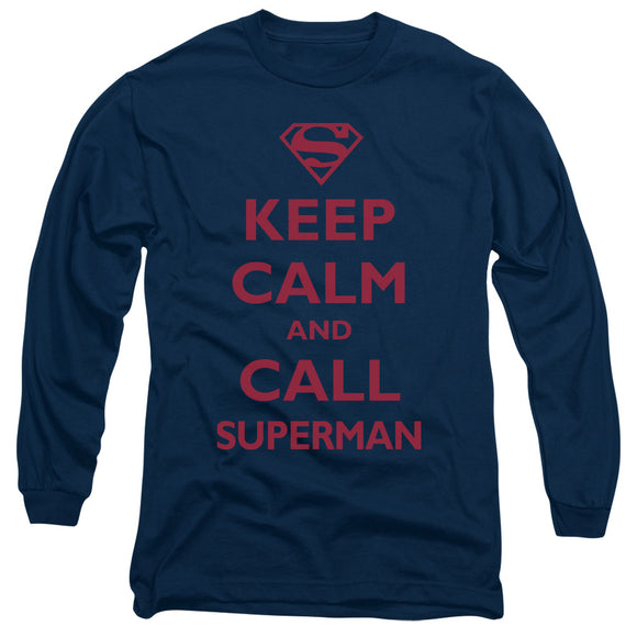 Men's DC Comics Superman Call Superman Long Sleeve Tee