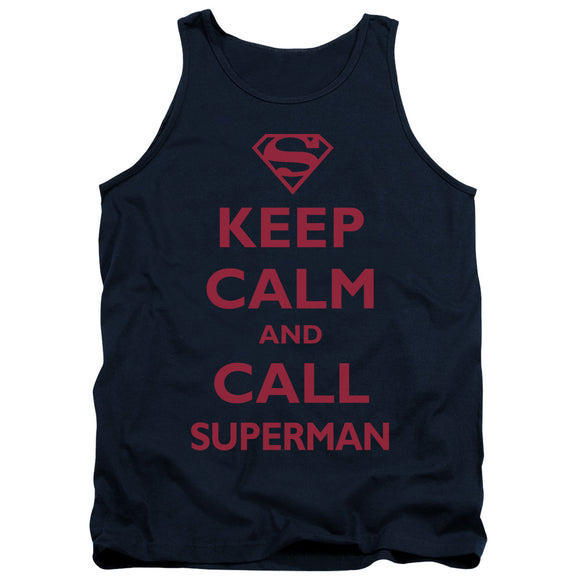 Men's DC Comics Superman Call Superman Tank Top