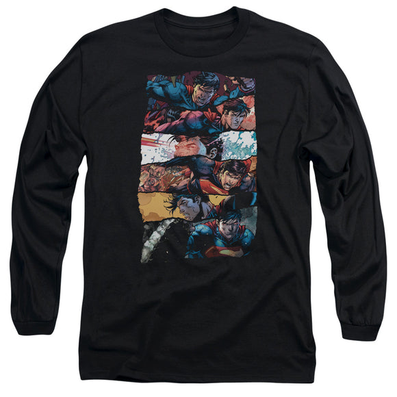 Men's DC Comics Superman Torn Collage Long Sleeve Tee