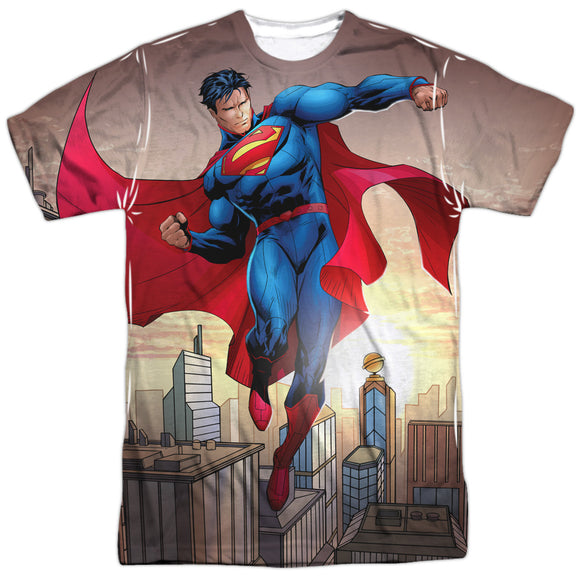 Men's DC Comics Superman Light And Darkside Sublimated Tee