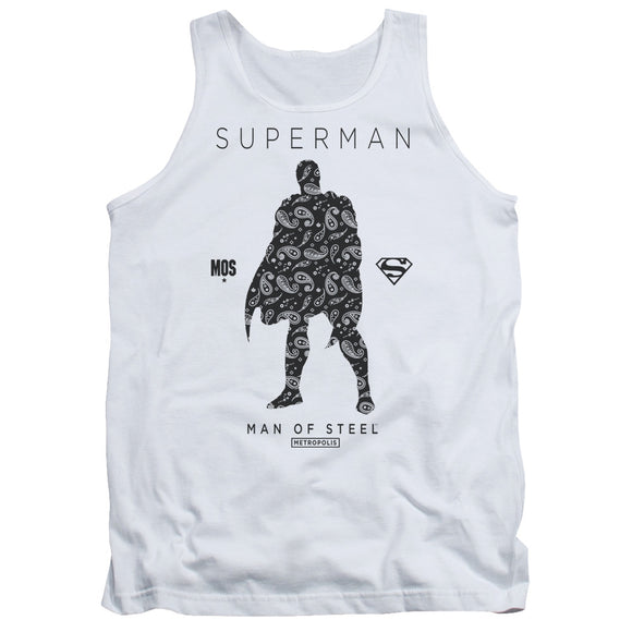 Men's DC Comics Superman Paisley Silhouette Tank Top