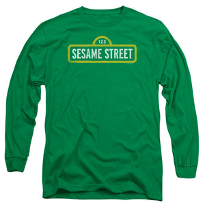 MEN'S SESAME STREET ROUGH LOGO LONG SLEEVE TEE