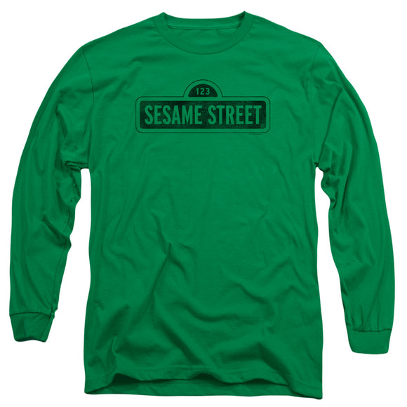 MEN'S SESAME STREET ONE COLOR DARK LONG SLEEVE TEE
