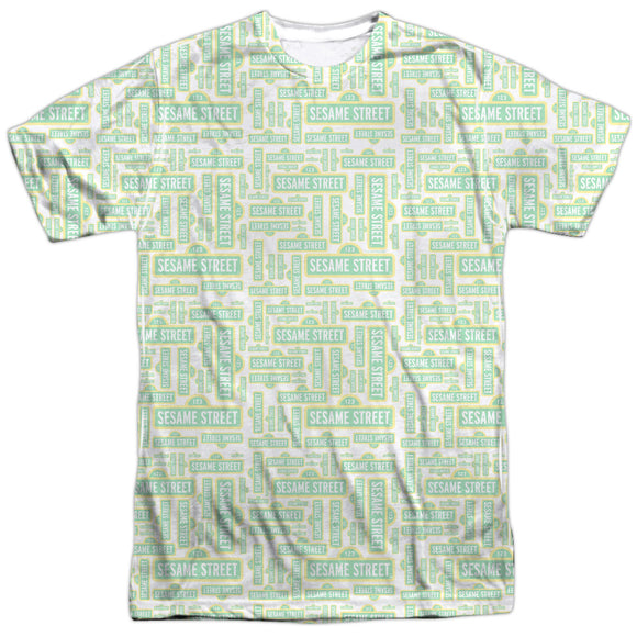 MEN'S SESAME STREET PUZZLE PATTERN SUBLIMATED TEE