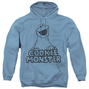 MEN'S SESAME STREET VINTAGE COOKIE MONSTER PULLOVER HOODIE