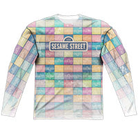 MEN'S SESAME STREET COLOR BLOCK SUBLIMATED LONG SLEEVE TEE