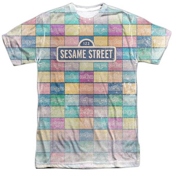 MEN'S SESAME STREET COLOR BLOCK SUBLIMATED TEE