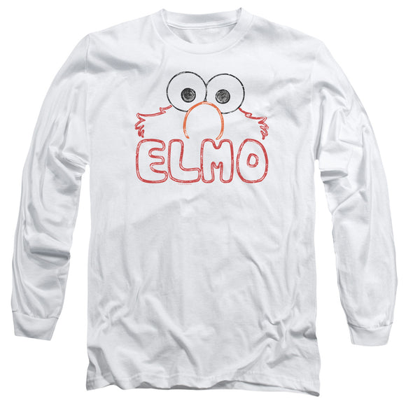 MEN'S SESAME STREET ELMO LETTERS LONG SLEEVE TEE