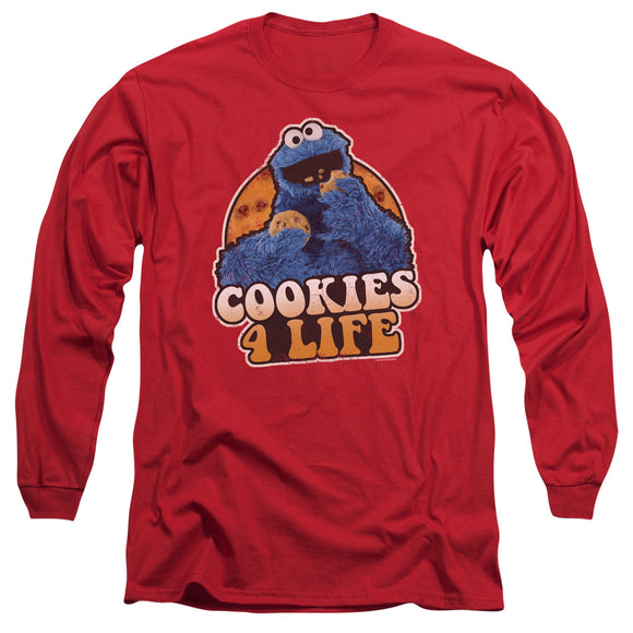 MEN'S SESAME STREET COOKIES 4 LIFE LONG SLEEVE TEE