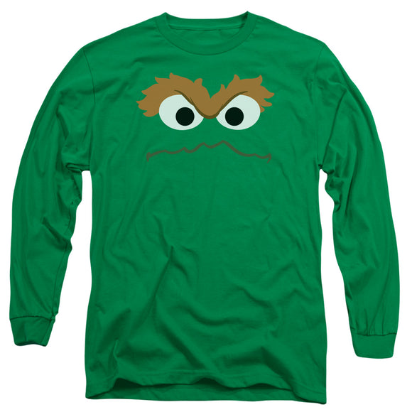 MEN'S SESAME STREET OSCAR FACE LONG SLEEVE TEE