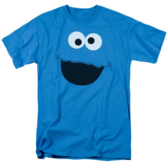 MEN'S SESAME STREET COOKIE MONSTER FACE TEE