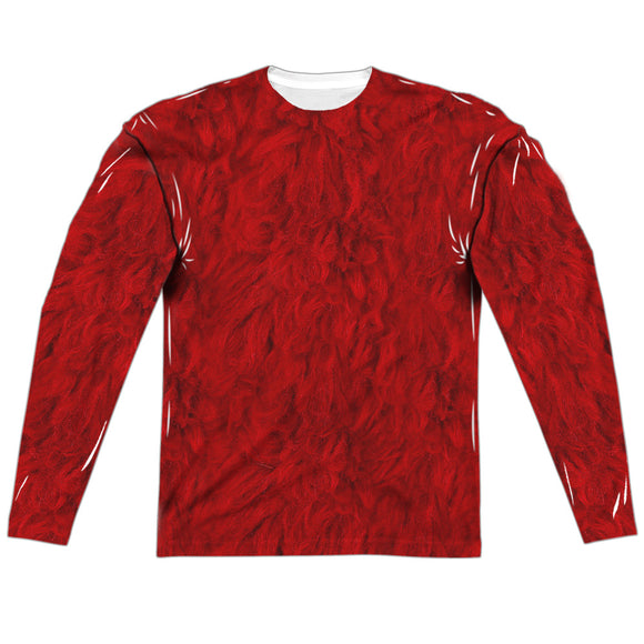 MEN'S SESAME STREET ELMO COSTUME SUBLIMATED LONG SLEEVE TEE