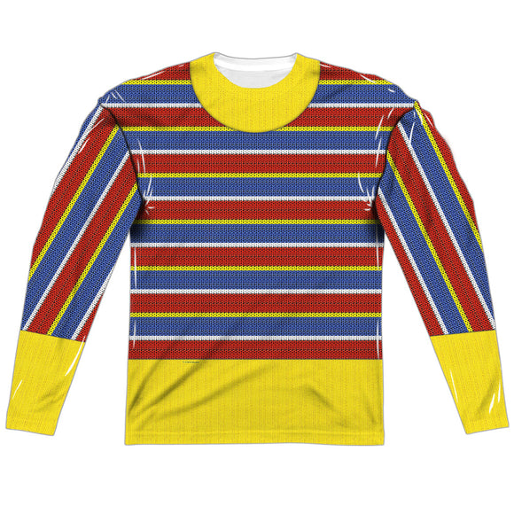 MEN'S SESAME STREET ERNIE COSTUME SUBLIMATED LONG SLEEVE TEE