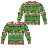 MEN'S SESAME STREET SESAME STREET CHRISTMAS SWEATER LONG SLEEVE TEE
