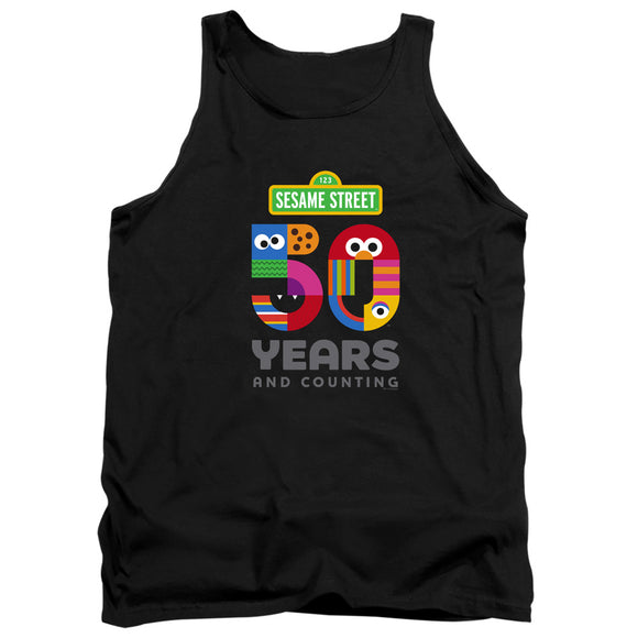 MEN'S SESAME STREET 50 YEARS LOGO TANK TOP