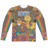 MEN'S SESAME STREET PSYCHEDELIC 69 SUBLIMATED LONG SLEEVE TEE