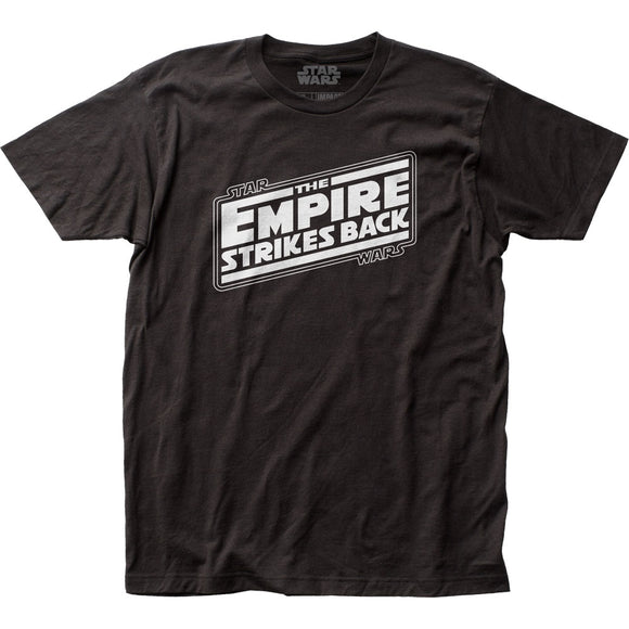 MEN'S STAR WARS THE EMPIRE STRIKES BACK LOGO FITTED JERSEY TEE