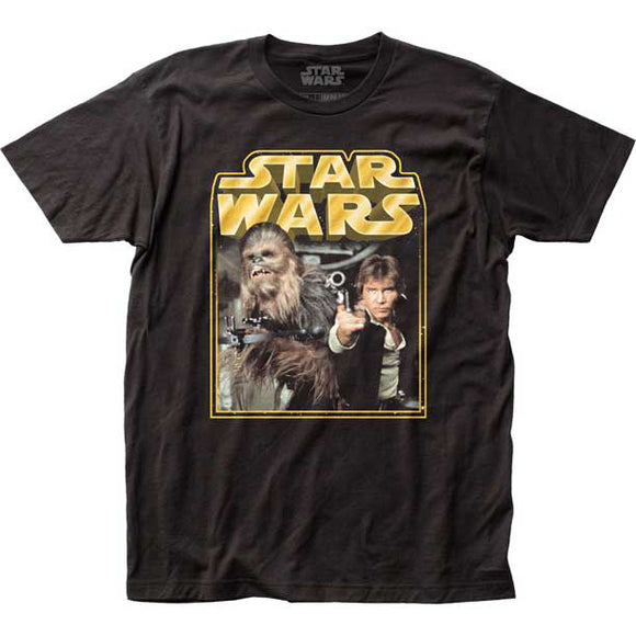 Men's Star Wars Retro Han & Chewy Tee