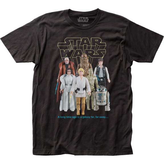 Men's Star Wars Good Guy Action Figures Tee