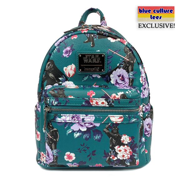 Loungefly Star Wars Floral Darth Vader AOP Mini Backpack