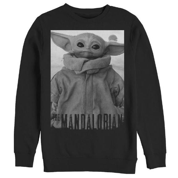 MEN'S STAR WARS THE MANDALORIAN CUTE FACE CHILD CREWNECK SWEATSHIRT