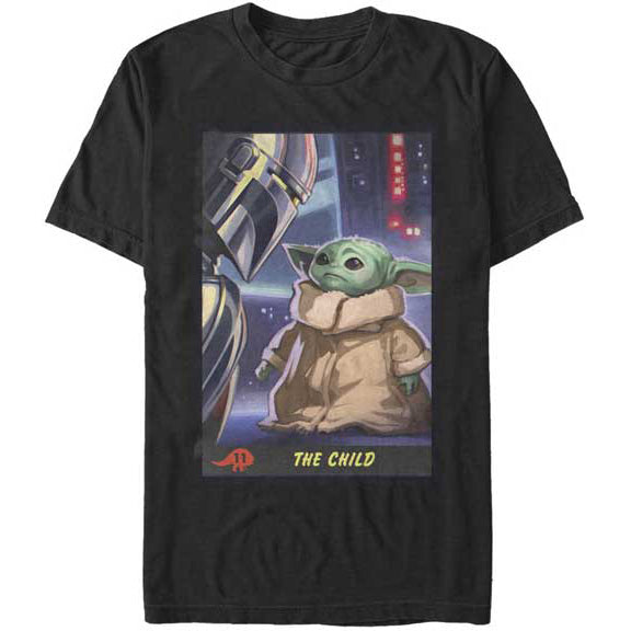 Men's Star Wars The Mandalorian Little Trading Card Tee